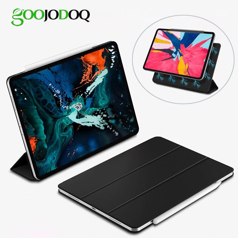 GOOJODOQ für iPad Pro 11 Fall Pro 12,9 2018 Magnetische Fall Funda Unterstützung Drahtlose Lade für Apple Bleistift PU Leder smart Fall