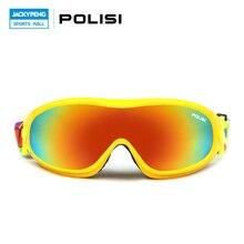 POLISI Children Kids Outdoor Sport Snowboard Goggles Windproof Anti-Fog Skiing Glasses UV400 Winter Sports Eyewear