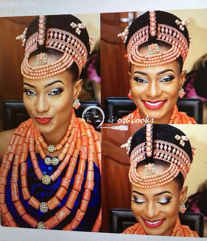 HTB1fjNKcMmTBuNjy1Xbq6yMrVXaM Luxury 3 Layers Red Coral Nigerian Wedding African Beads Jewelry Set 45 inches Gold and Coral Long Statement Necklace Set CNR853
