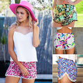 2016 New Trendy Women's Hot Summer Beach Pom Edge Multi-Color Print Casual Shorts New Arrival