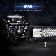 Oslamp Work Light 5″ 12″ 16″ 20″ 23 inch 3 Row LED Light Bar Offroad Combo Beam Led Light Bar for Truck SUV ATV 4×4 4WD 12v 24v