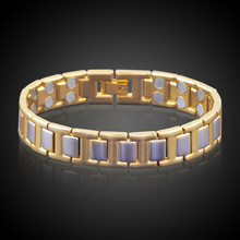 HOMOD New arrival True Gold - color Magnetic Health Bracelet For Women Men High Quality Jewelry Pulseira Masculina