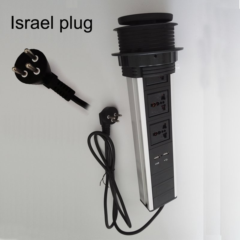 Israel plug universal av power 3universal power+2charge USB conference furniture desktop tabletop socket israel and palestine