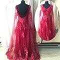 Diseño moda con lentejuelas apliques de encaje Sexy Pageant partido Prom vestidos vestidos azul de la muestra verdadera rojo moldeado cristalino del vestido de noche ASAE24