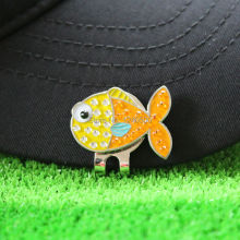 Free Shipping New Cute Fish Fine Metal Alloy Golf Cap Clip Hat Ball Marker 74c7033afebd