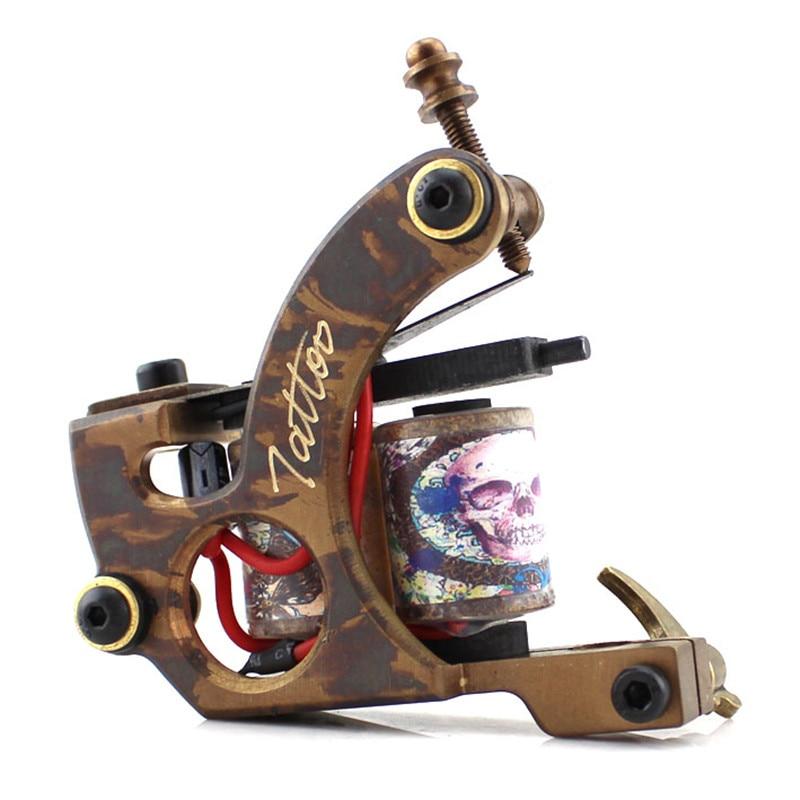 ФОТО Professional Tattoo Guns  Copper Shader Tattoo Machine High Quality Tattoo Supply  Free Shipping
