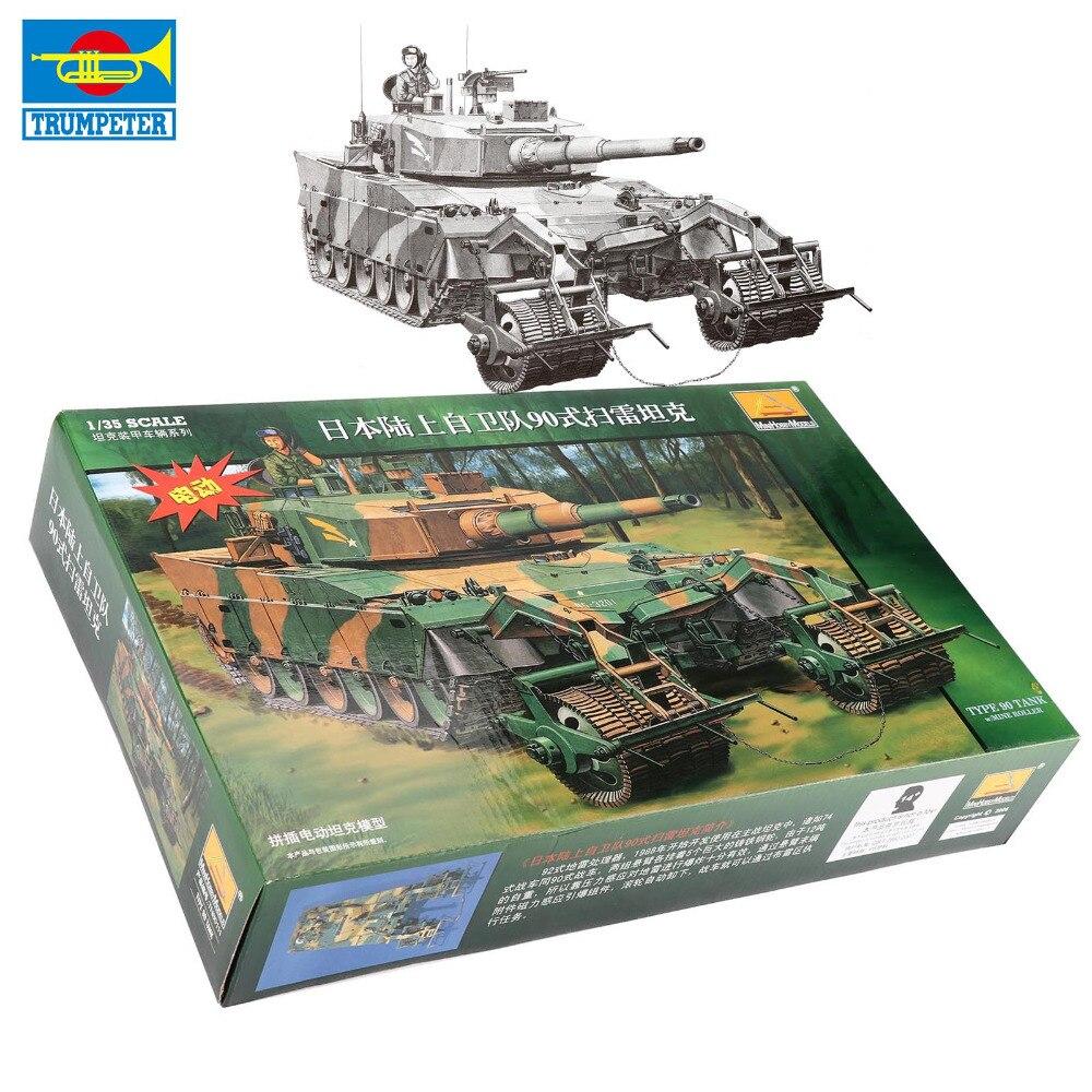 Trumpeter Francia Japón Rusia batalla Minesweeping tanque blindado 1:35 ensamblar juguete modelo niños Navidad Presente