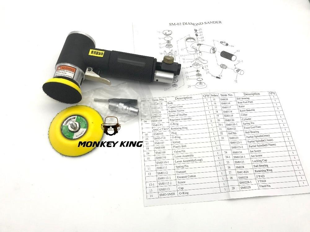 50mm 75mm aleatorio orbital neumático de palma de aire Sander - Herramientas eléctricas - foto 4