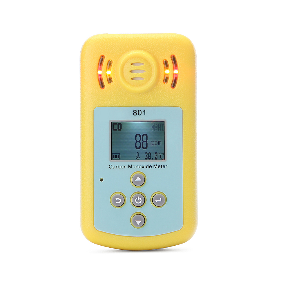 CO Carbon Monoxide Detector Alarm Sensor Smart Digital Sound and Light Vibration Warning LCD Display Gas Detector Sensor