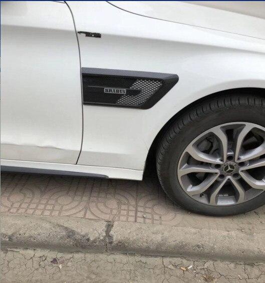 Voiture-Style Logo autocollants Pour Mercedes W205 W213 D'accompagnement spoiler pour nouveau Benz C E 2016-2018 C -classe E-classe De Voiture Accessoires