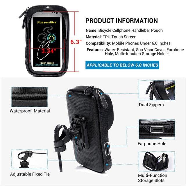 Tendway 6.0 calowy uchwyt na telefon do motocykla wodoodporna kierownica stojak na telefon rowerowy uchwyt na iphone X Samsung Huawei
