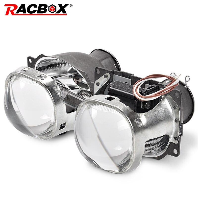 RACBOX 2 pièces 3 pouces carré Style Q5 Koito Projectore Len HID bi-xénon LHD RHD pour rénovation H7 phare D2S D4S D1S D3S ampoule