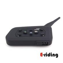 E-riding New BT Intercom for Motorcycle Intercomunicador Bluetooth Helmet Headset 6 Riders Waterproof Wireless Interpone Speaker