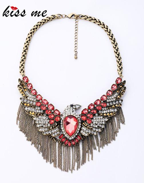 Accesorios de moda vintage de cristal collar de águila Fábrica Al Por Mayor