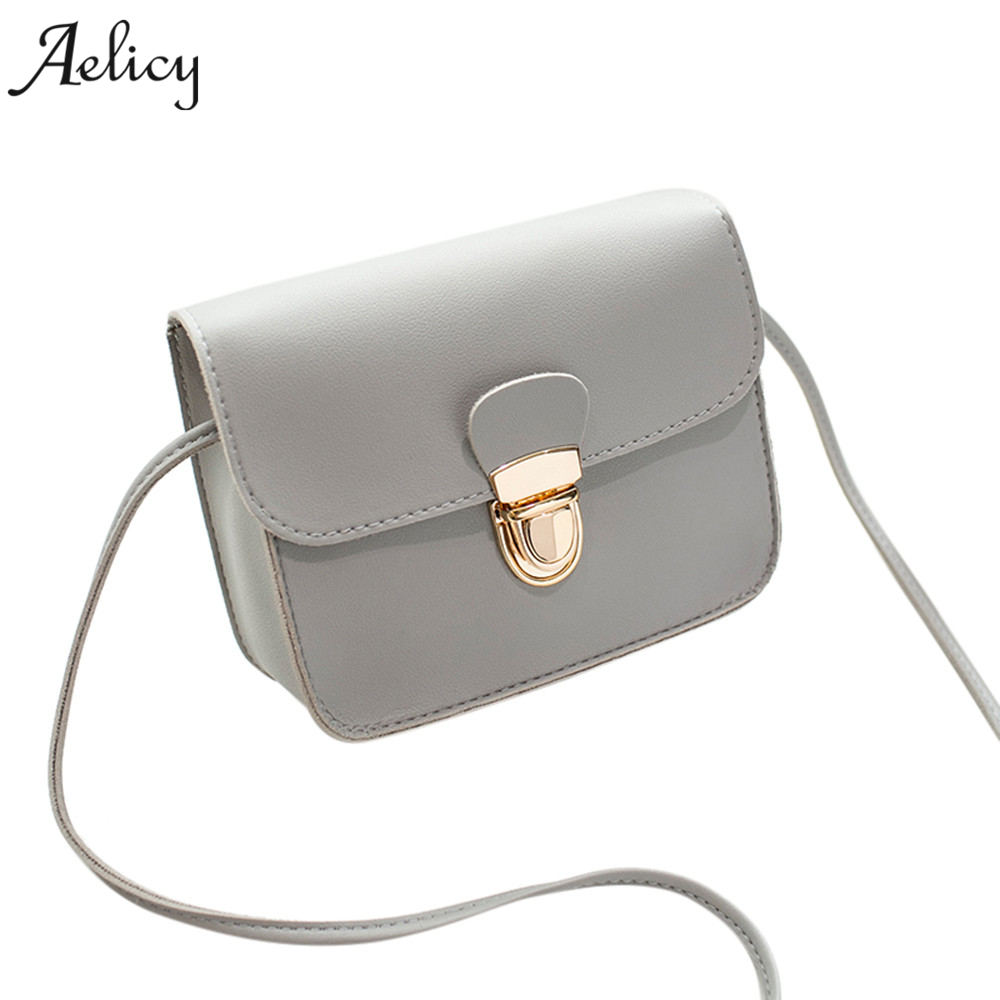 Aelicy New 2018 Women Messenger Bags Pu Leather Fashion Small Shoulder Bag Ladies Girls Handbags Crossbody Bags Female