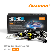 Aozoom 2 pcs 35 w 5500 k HID Lâmpadas HC21 Lossless instalar h7 Lente Do Projetor