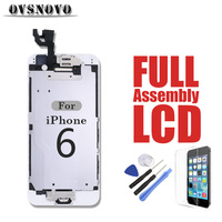 Full LCD Digitizer Assembly For IPhone 6 Display Replacement Touch Screen Parts Panel Black White Front
