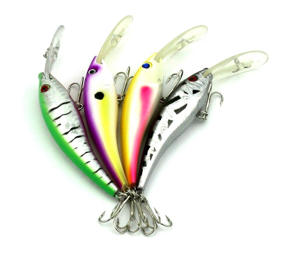 HENGJIA 80pcs hard plastic fishing tube minnow lure artificial baits 12CM 15.6G 4#hooks fishing tackle wholesale fishing baits