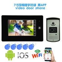 Новый продукт 7 дюймов монитор видео дверной звонок Домофон с WI FI приложения для телефона управление Функция безопасности камера дверной зв