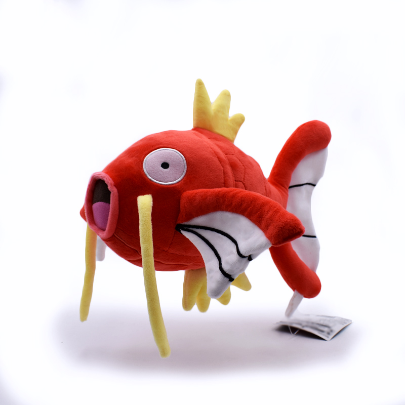 Free Shipping Cartoon Peluche Red Magikarp Plush Toys Anime Stuffed Dolls Soft Figure Toys 28cm Magikarp FOR Christmas Gift