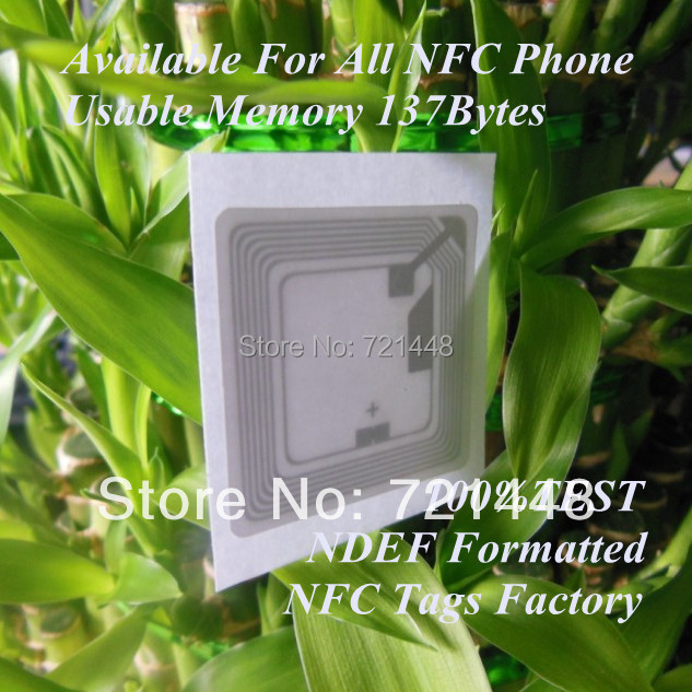 100pcs NTAG213 (NTAG203) NFC Stickers for all NFC mobile phone NDEF formatted NFC Forum Type 2 tag Usable Memory 144byte