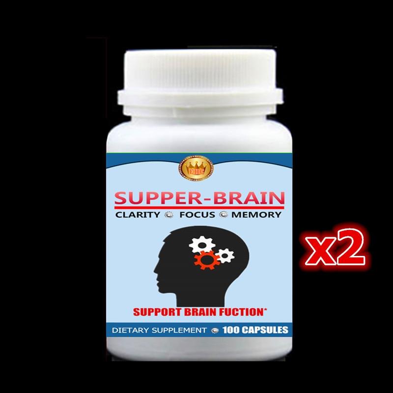 2 bottle 200pcs, Supper Brain Fuction Support,For focus, memory & brain nootropics,Bacopa Monnieri,St.John's Wort,Ginkgo Biloba