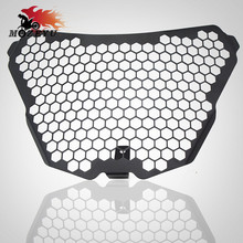 CNC Aluminum Headlight Guard Grille Protector Cover Protectors For KTM RC125 RC200 RC390 2016 2015 2014 Motorcycle Accessories