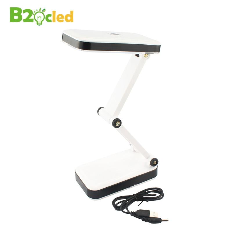 USB LED desk light Two stalls light 3 AA batteries desk lamp 24 LED high light Folding white light table lamp Read Manicure