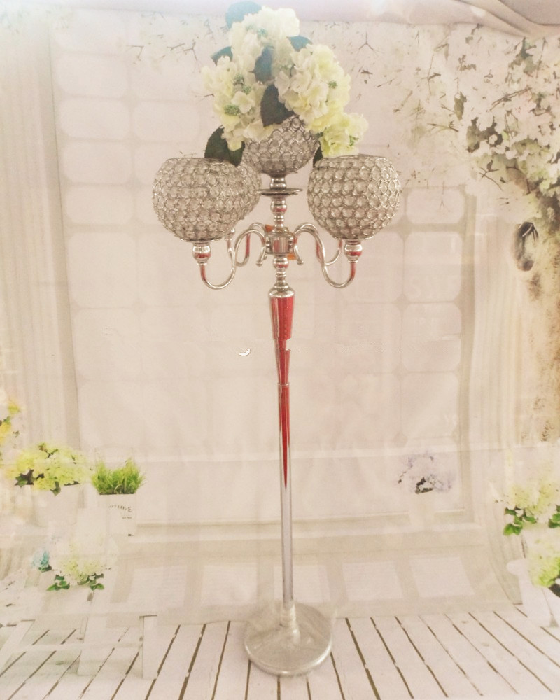 metal sliver tall wedding flower vase&stand/elegant wedding table ...