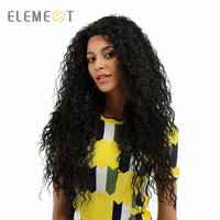 Element 26 Synthetic Lace Front Wig 13*4 Long Hair Afro Kinky Curly Wigs 150% Density for Black Women Free Shipping 2 Colors