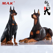 цена на 1/6 Scale Animal model JxK004 Doberman Pinschers Dog Animal Model Toys Gift for 12inches action figure scene Acces collection