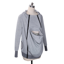 Autumn winter Women Sweatshirts Baby Carrier Wearing Hoodies Baby Frock Casual Zipper Parenting Child Mother Kangaroo Clothes