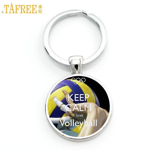 Llavero deportivo de voleibol de marca TAFREE estilo casual de verano para hombres, mujeres, eventos deportivos de moda, regalos, llavero, joyería SP229