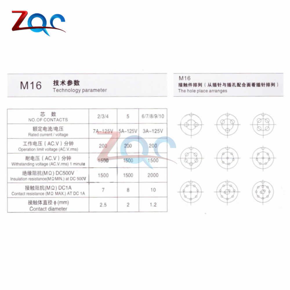 GX16 2/3/4/5/6/7/8/9/10 Pin macho y hembra 16mm cable Panel Circular conector tapa L70-78 enchufe conector de aviación