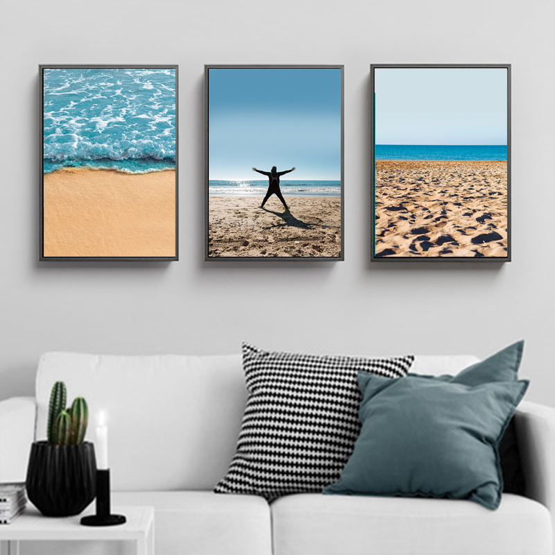 Canvas Printing Scenery Mediterranean Waterproof Ink Unframed Wedding Festival Decoration Bedroom Wall Art Pictures And Posters in Painting Calligraphy from Home Garden