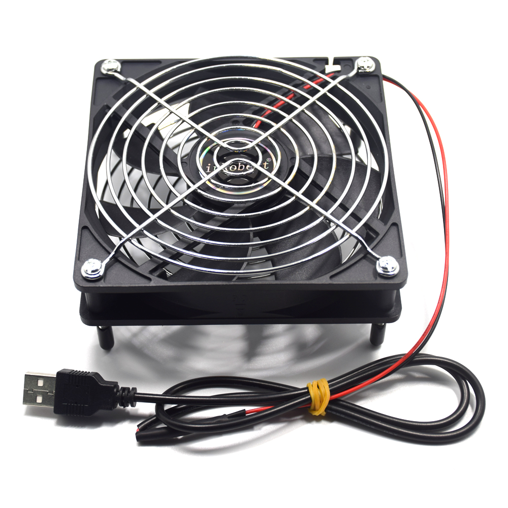 Computer pc 120mm <font><b>fan</b></font> TV Box Wireless Router Cooling usb3.0 usb <font><b>5V</b></font> cable interface 120X120X25mm Pet box Heatsink <font><b>Cooler</b></font> image
