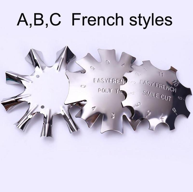 3 Design Nagel Vorlage Französisch A/b/c Einfach Französisch Rand Trimmer 1 Stück Nagel Stanzen Guide Vorlagen Diy Stahl Stanzen Werkzeuge Tmb4534