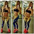 Hot Sale Spring Autumn Women Star Flag Designs Sexy Slim Ankle-length Leggings High Quality