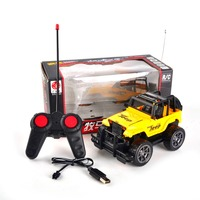 High Quality Children Kids 1 24 Portable Radio Control RC Jeep Tpys 4CH Remote Control Speed