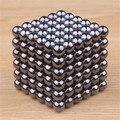 5mm 216 unids magia negro mármoles imán neo globo perlas cubo de bolas magnéticas del cubo del neodimio juguetes para los niños