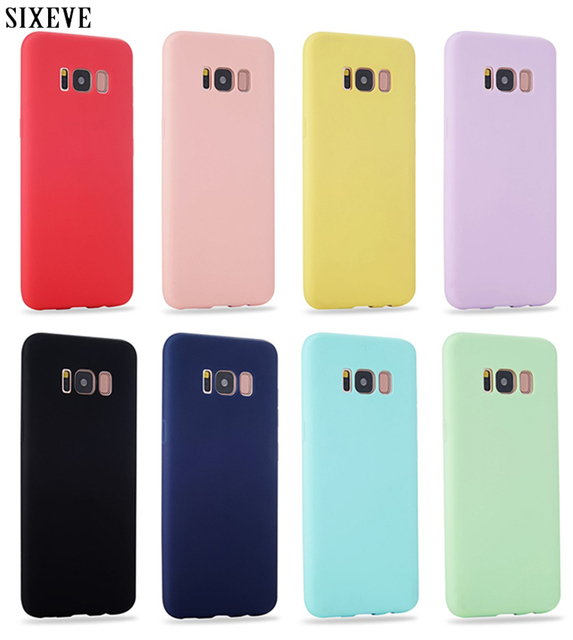 simple Soft Silicone Colors Case for Samsung galaxy S5 Neo S4 Samsung S10 E S9 S8 Plus S6 S7 Edge S10Plus Phone Cover coque