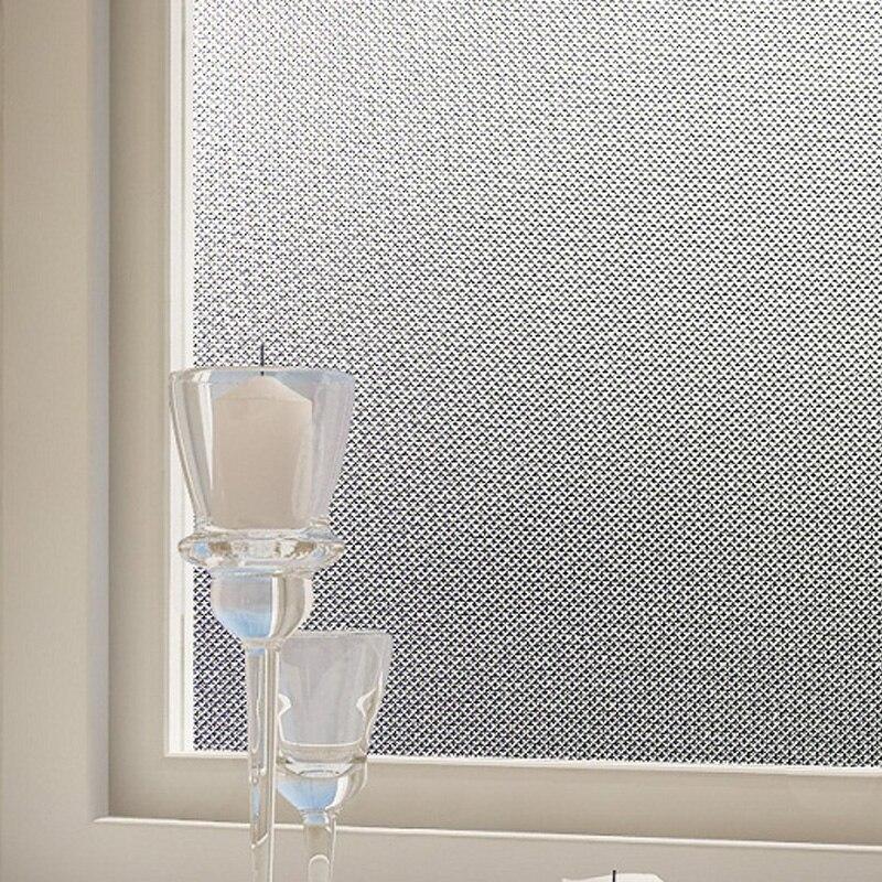 Pas de colle statique s'accrochent verre fenêtre de la vie privée film décor à la maison salon chambre givré type BZ245-001