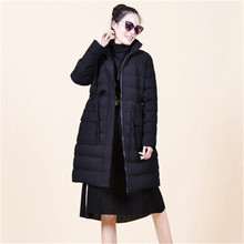 2017 Women Long Parka New Winter Female Warm Middle-long Large size Women Cotton Down Jacket Thicken Winter Jacket Coat A2141