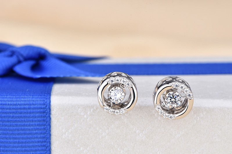 for 925 sterling silver earrings stud vintage jewelry DE72520A (2)