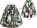Free shipping  Floral Rockabilly Vintage 50S Rock N Roll Jive Swing Skirt XS S M L