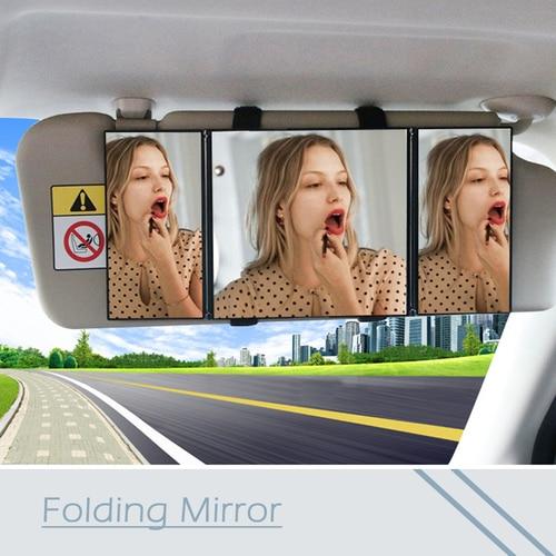 Atreus Foldable Makeup Rear View Sun Shade Baby Care Mirror For VW polo passat b5 b6 Mazda 3 6 cx-5 Toyota corolla Ford focus 2 Karachi