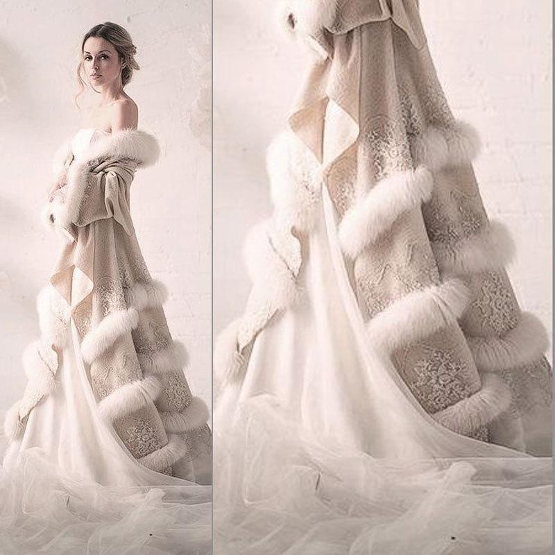 Aliexpress.com : Buy IM240 Hot Sale Winter Evening Dress Cloak Two ...