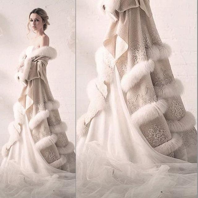 Im240 Hot Sale Winter Evening Dress Cloak Two Piece High Quality