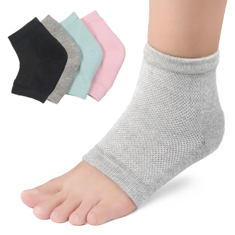 Moisture Cracked Heel Socks Silicone Gel Sock Heel Protection Sleeve Moisturizing Heel Pain Cushion Ankle Sock 2018 New P0233