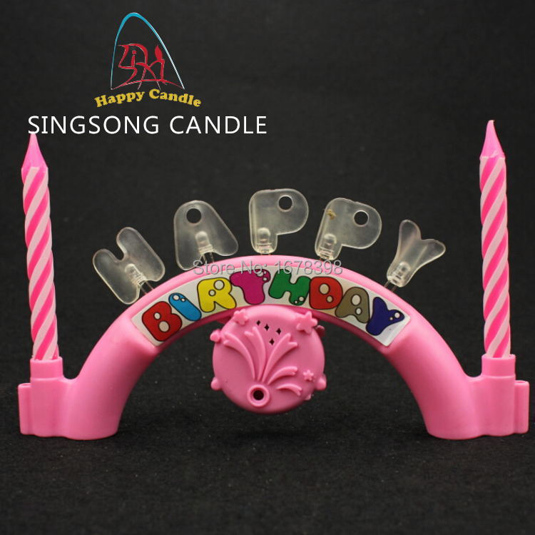 Bougie Happy Birthday Sing Wax Hot Sales 12 Pieces Sold LED Party Home Free Shipping Musical Singing Songs Friends Gift
